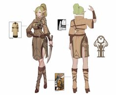 ArtStation - 엘프 순찰자 캐릭터 시트 , Taimin Yoo Fantasy Character Design, Character Design Inspiration, Female Orc, Fantasy Characters, Fictional Characters, Female Characters, Girl Inspiration, Art Model, Game Design