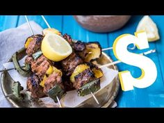 ▶ Greek Lamb Kebabs & Babaganoush Recipe - SORTED - YouTube
