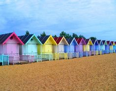 Beach Huts - beach cabanas in Essex, England - Essex Beach, Surf Mar, British Seaside, Seaside Uk, Beach Cabana, My Pool, Beach Shack, Am Meer, Cabanas