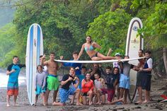 Group surf lesson! #surfschool #learntosurf #goodtimes