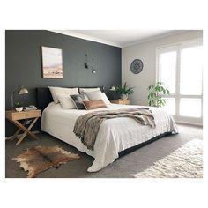 , Hauptschlafzimmer - décoration intérieure - Lilly is Love Bedroom Green, Bedroom Colors, Bedroom Color Schemes, Home Decor Bedroom, Interior Design Living Room, Bedroom Ideas, Diy Bedroom, Master Bedroom Design, Bedroom Designs