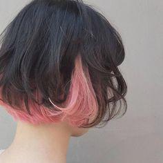 Hair Color Idea Source by akiwarinda Underdye Hair, Dye My Hair, Pretty Hairstyles, Hairstyle Ideas, Bridal Hairstyle, Hair Ideas, Gown Hairstyles, Bangs Hairstyle, Korean Hairstyles