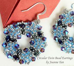 Circular Twin Bead Earrings