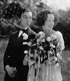 Buster Keaton and Nat Talmadge on their wedding day