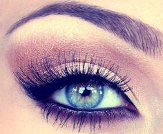 natural light brown eye make-up