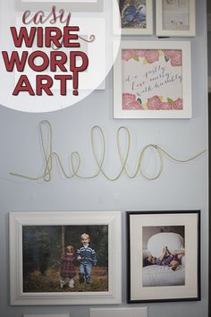 Love this simple DIY project -- make wire word art for your house! So many possibilities!