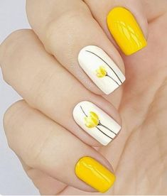 There are three kinds of fake nails which all come from the family of plastics. Acrylic nails are a liquid and powder mix. They are mixed in front of you and then they are brushed onto your nails and shaped. These nails are air dried. Flower Nail Designs, Nail Designs Spring, Nail Art Designs, Spring Design, Bright Nail Designs, Tulip Nails, Flower Nails, Pastel Nails, Nail Art Flowers