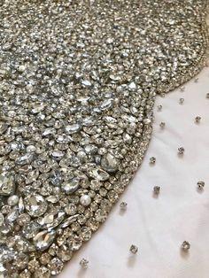Fairy Tale Rhinestone Bodice Applique by KatKingCouture on Etsy #rhinestonefabric #beadedmaterial #couture
