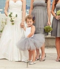 Flower girl tutu in color of bridesmaid dresses - this is more the look I'm going for Olivia & Julie :)