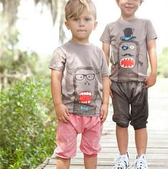 Just love these monster t-shirt kits for kids that let them design their own with iron-ons, Mr Potato Head style!