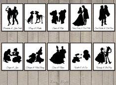 Printable Disney silhouettes