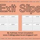 FREE exit slips