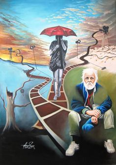 """Life as a Movie"" Oil on canvas. #art #painter #painting #surrealism"