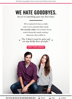 Great example of a lighthearted re-engagement attempt email. #re-engagement  www.icontact.com