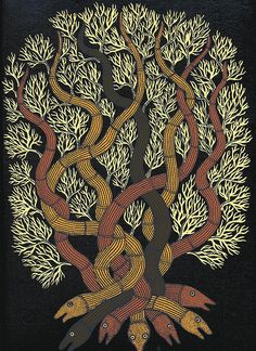 The Night Life of Trees by Tara Books. The most gorgeous hand-printed book! (Img: 005 by peacay, via Flickr)