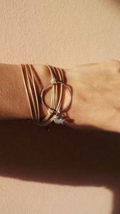 Karma bracelet. Circle bracelet. Karma wrap bracelet. Infinity circle charm bracelet. Boho wrap bracelet .