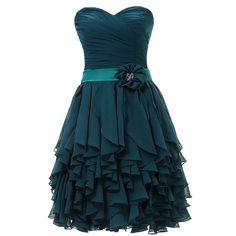 Dresstells Sweetheart Short Prom Chiffon Bridesmaid Party Homecoming Dresses at Amazon Women's Clothing store: Purple Homecoming Dresses