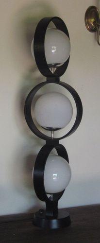 Vintage Mid Century Danish Modern Op Art Floor Table Lamp Verner Panton Eames