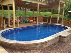 Sloped yards present a challenge for swimming pool builders in central arkansas here are some for Swimming pool supplies raleigh nc