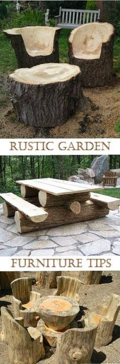 Superb Tips On How To Make Those Awesome Rustic Garden Furniture : Http://vid