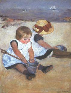 Mary Cassatt. Enfants jouant sur la plage (1884)