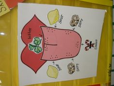 5 senses preschool craft | The Art of Teaching: A Kindergarten Blog: 5 Senses: Taste