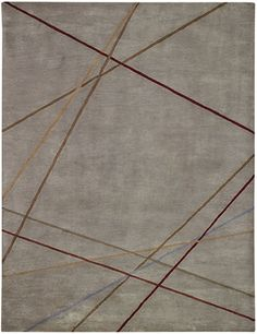 Grey Area Rug With Laser Stripes