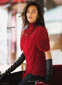 Daniela De Jesus Cosio in Gaultier Paris by Benjamin Kanarek for Elle Vietnam