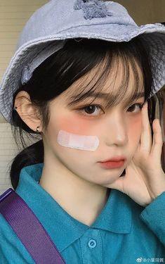 Ulzzang Short Hair, Ulzzang Korean Girl, Cute Korean Girl, Asian Makeup, Korean Makeup, Cute Makeup, Makeup Looks, Chica Dark, Ulzzang Makeup