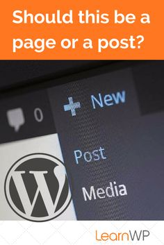 WordPress Tutorial: Should this be a page or a post? // If you're a blogger who's just starting out, you might be confused about the difference between WordPress posts and pages. Learn what they are and when to use them properly on your WordPress website.