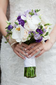 a fresh bundle of purple and white by Pink Twig