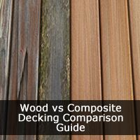 Wood vs Composite Decking? Is a common question - which is the better material for my home deck.  Our Comparison Guide will be break down the pros and cons & individual costs for each deck material and decking installation prices.