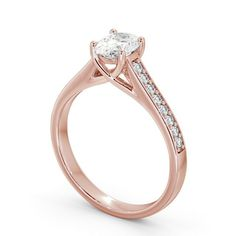 You can never go wrong with engagement rings with oval diamonds. This rose gold ring features an oval diamond at the centre and a channel of diamonds running down either side. Elegant Engagement Rings, Diamond Engagement Rings, Beautiful Diamond Rings, Oval Diamond, Diamond Jewellery, Eternity Ring, Gold Ring, Natural Diamonds, Centre