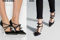 Clonehunter:Uterque shoes Oscar de la Renta Vs Uterque http://macarabymartuka.blogspot.com.es/2014/05/clonehunteruterque-shoes.html
