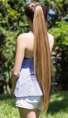 Long pony tail