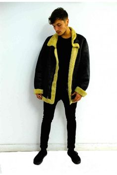 Vintage leather aviator jacket. Click to buy!