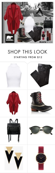 """""""Kick Up the Leaves (Stylishly) With SOREL: CONTEST ENTRY"""" by smsofia on Polyvore featuring moda, SOREL, WearAll, BRAX, McQ by Alexander McQueen, Ray-Ban, Yves Saint Laurent, Abbott Lyon y sorelstyle"""