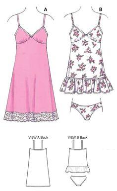 K3554 Misses' Slips & Panties