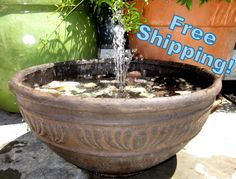 Large Tuscan Bowl Trickle Spout Water Fountain