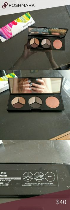 Smashbox Art Color Palette Art Love Color Eye and Cheek Palette. Two Photo Op shadow sets and one blush. $75 value. Shadows include: Marzipan, Java, Nude, Flirt, Bittersweet, and Dark Cocoa. Blush is Flush. Smashbox Makeup Eyeshadow