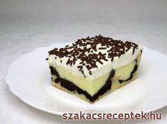 Pudingos-tejszínes szelet • Recept | szakacsreceptek.hu