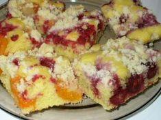 Kolač s ovocím Šup-šup Healthy Dessert Recipes, Baking Recipes, Cake Recipes, Czech Desserts, Kolache Recipe, Coconut Pound Cakes, Czech Recipes, Sweet Cakes, Cheesecakes