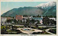 Ogden Utah UT 1908 City Hall Park Fountain Collectible Antique Vintage Postcard