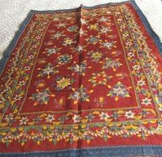 Kutch embroidery antique folk art 17   by ThreadsOfOld    Etsy   $425.00