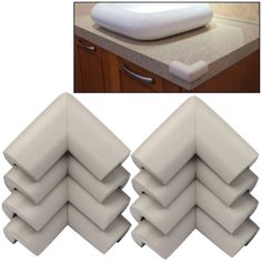 [$1.96] Baby Safety Desk Table Corner Guard Cover (8pcs in one packaging, the price is for 8pcs)