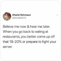 🤣🤣🤣 . . . Thanks for sharing @khalidsays . . #serverlife #servermemes #serverproblems #iserv #iserverlife #lifeofaserver #lifeasaserver #servers #waiter #waitress #bartender #cook #manager #host #busser #restaurant #servervent #funny #haha #lol #lmao #love #hate #followme #memes #happy #saturday Server Memes, Server Humor, Server Problems, Server Life, Happy Saturday, Bartender, Haha, Restaurant, Funny