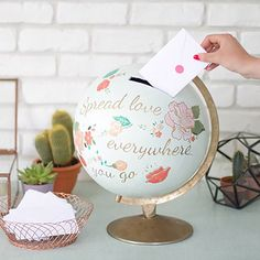 15 Classy Ways to Ask for Money for Your Honeymoon Fund - Brit + Co Honeymoon Shower, Honeymoon Fund, Honeymoon Ideas, Wedding Boxes, Wedding Cards, Wedding Gifts, Diy Wedding Money Box, Wedding Envelope Box, Perfect Wedding