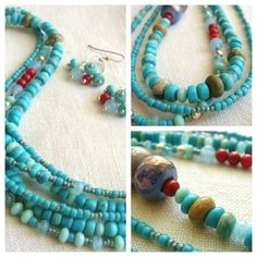 Boho Southwestern Jewelry Necklace And Earring by TamiLopezDesigns, $65.00