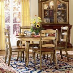Vineyard Round Dining Table with 20 Inch Leaf Image