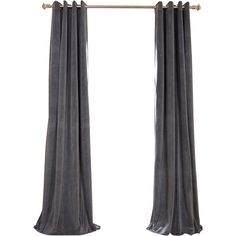 Velvet Blackout Rod Pocket Curtain Panel ❤ liked on Polyvore featuring home, home decor, window treatments, curtains, blackout curtain panels, velvet drapery, blackout window panels, rod pocket curtain panels and black out curtains